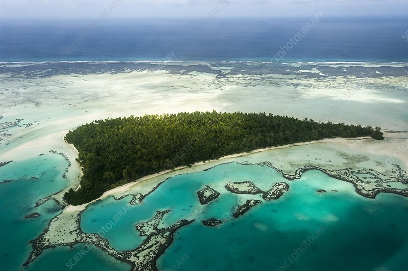 Aerial view of St Joseph Atoll