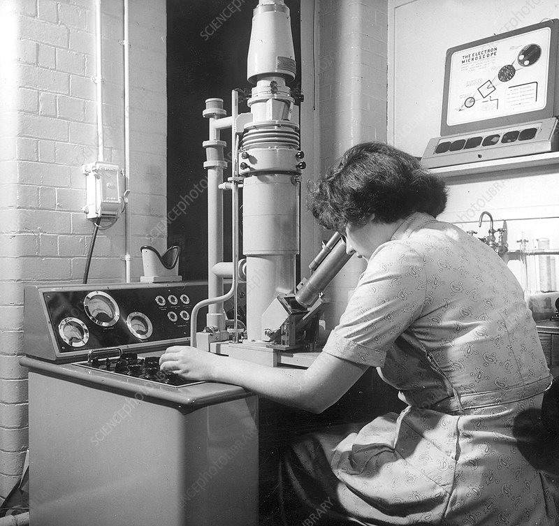 Scanning electron microscopy, 1950s