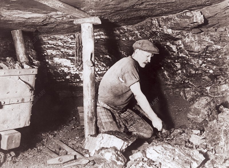 Miner at work, 1930s
