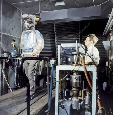 Breathing apparatus test facility, 1960s