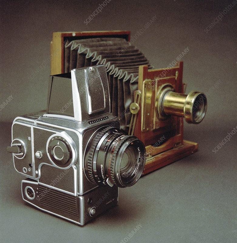 Cameras, 1970s and 19th century