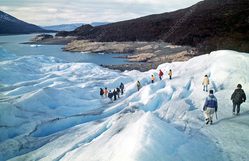 Tourists on Moreno Glacier