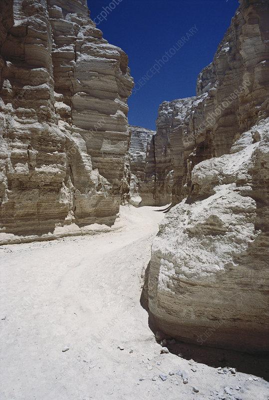 Dry Creek in Israel