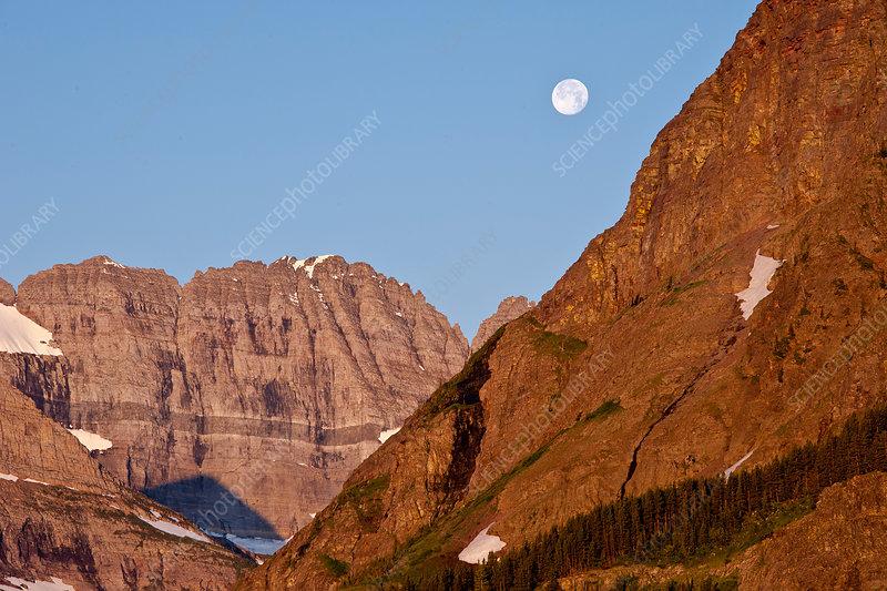 Moonrise in Glacier National Park