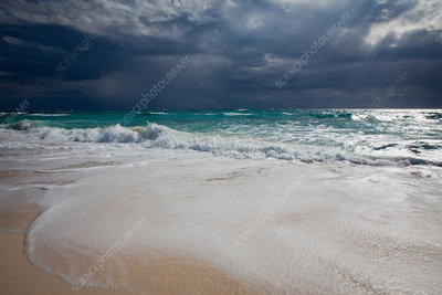Storm Clouds over Surf