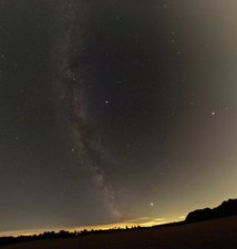 Summer stars and light pollution