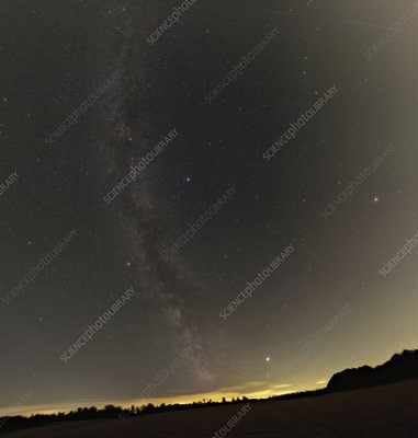 Summer stars and light pollution