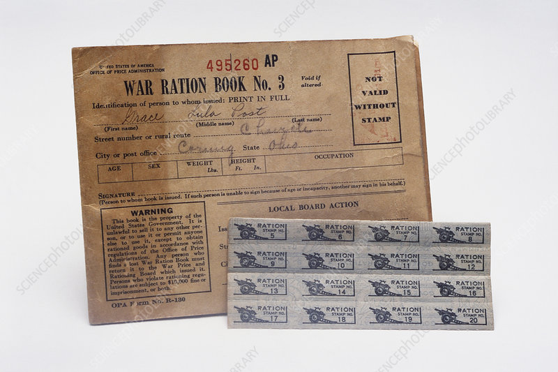 World War II Ration Stamps