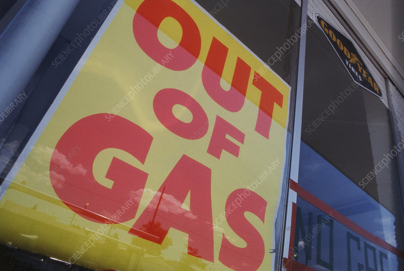 Out of Gas Sign, Denver, Colorado, 1974