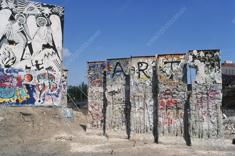 Remains of Berlin Wall, Germany, 1990s