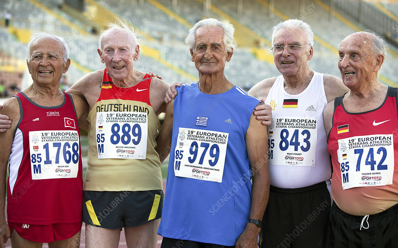 Silver-haired athletes in their late 80s