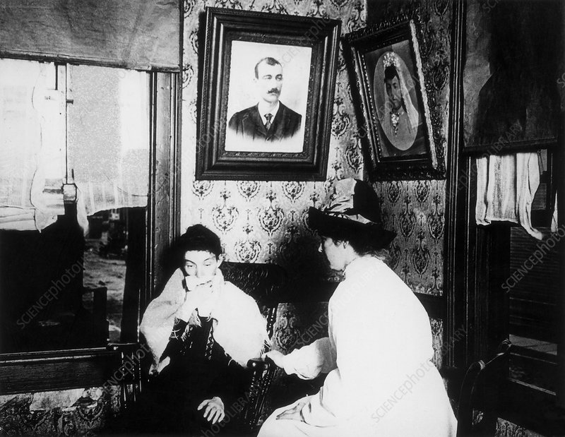 Nurse with Tuberculosis Patient, 1904