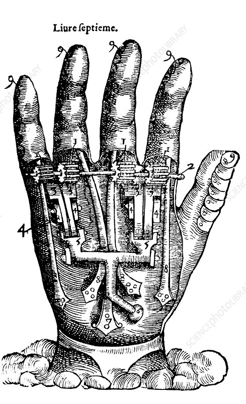 Artificial Hand Designed by Ambroise Pare