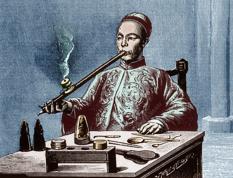 Man Smoking Opium