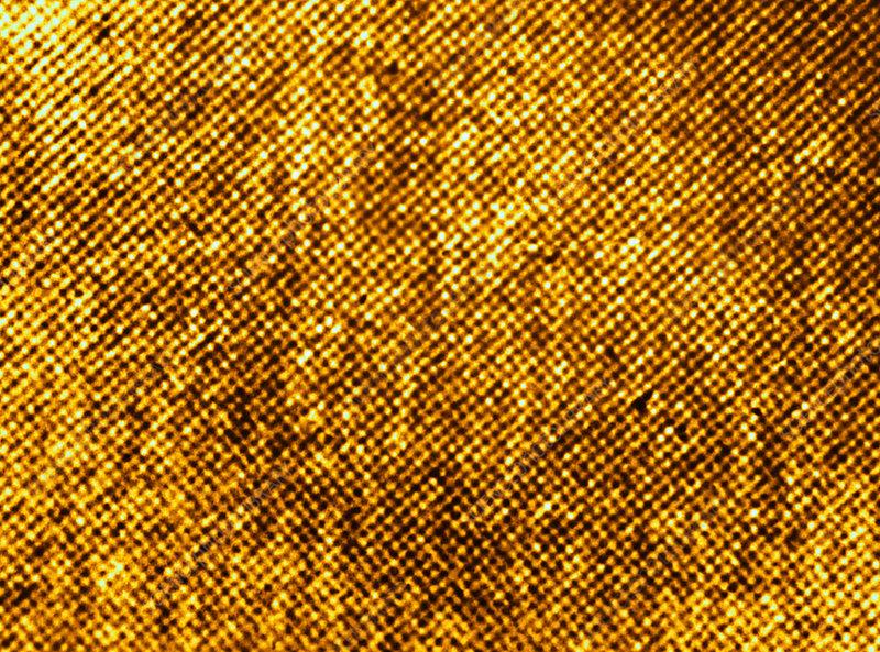 Gold Atomic Lattice
