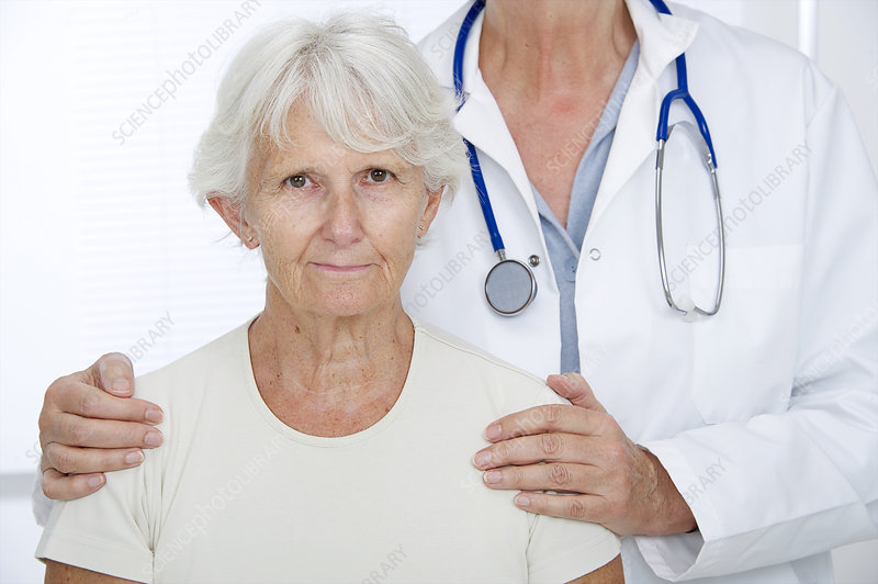Elderly woman with doctor