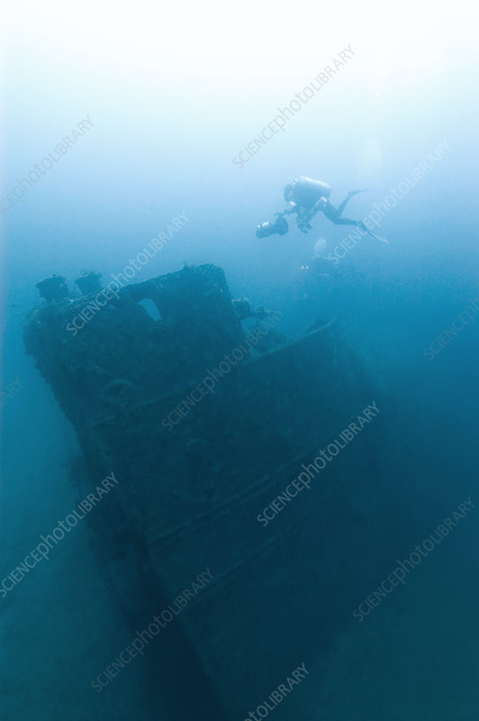 Diver at 'Northern Light' shipwreck