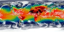 Global temperatures, GEOS simulation