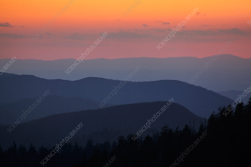 Dusk in the Smoky Mountains