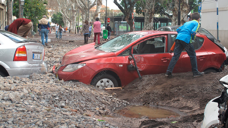 Aftermath of flood, Funchal, Madeira