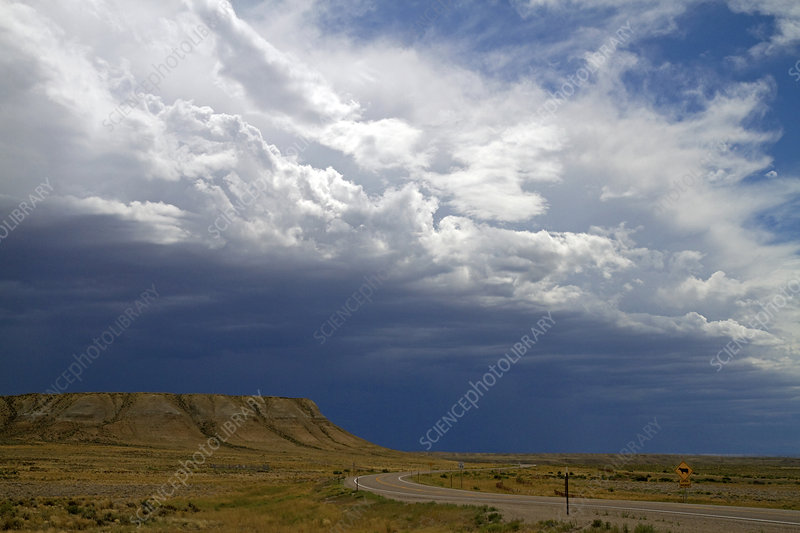 Clouds over Wyoming Landscape