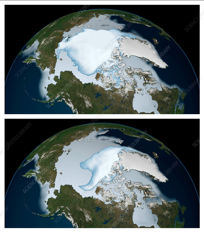 Decrease in Arctic Sea Ice: 1980 to 2012