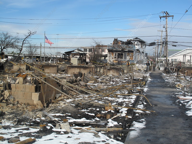 Hurricane Sandy Aftermath. Queens, NY