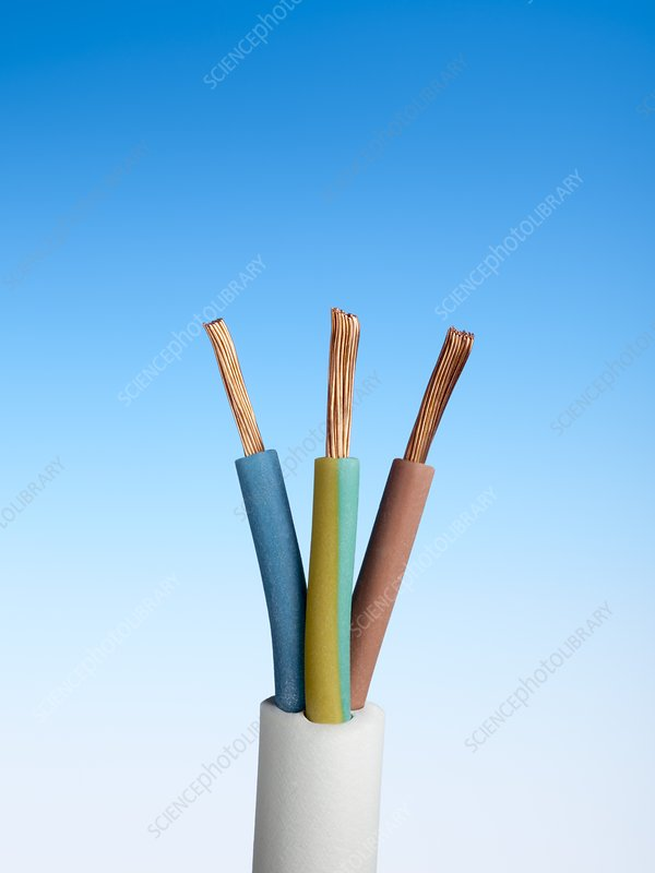 Three-core electrical cable
