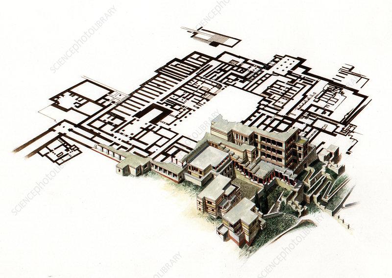 Palace of Knossos, illustration