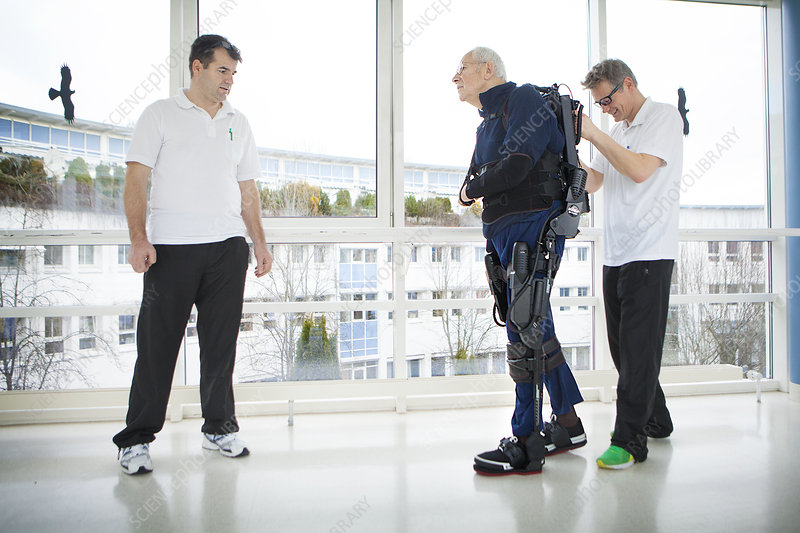 Elderly person in rehabilitation