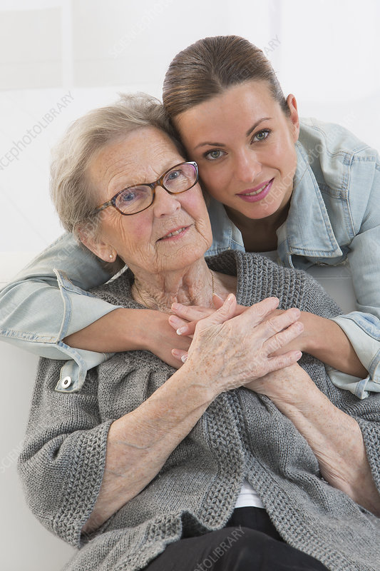 Elderly person indoors