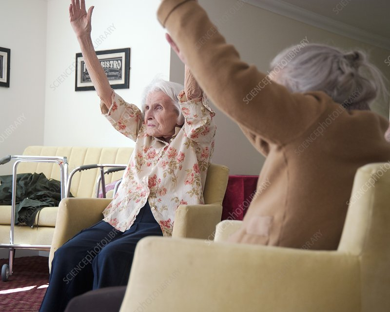 Exercise class at a care home