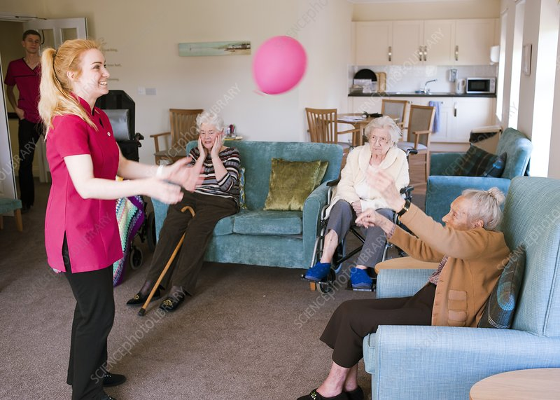 Care assistant with elderly women