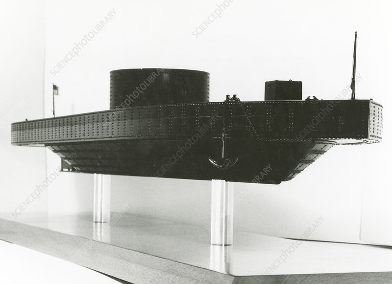 Model of ironclad warship USS Monitor