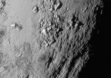 Close-up of Pluto, New Horizons image