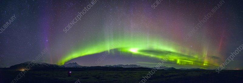 Aurora panorama in Iceland