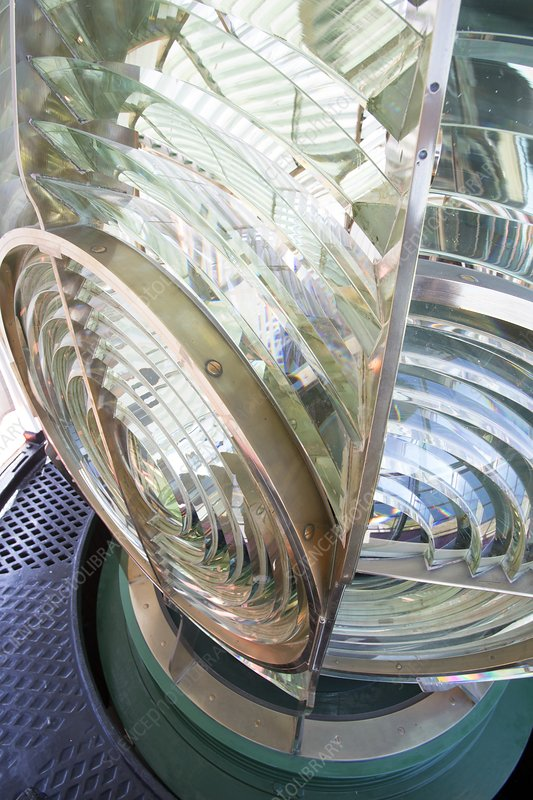 Fresnel lens in lighthouse