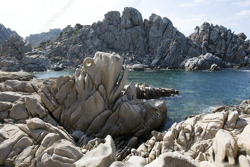 Granite coast in Sardinia