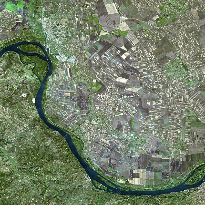 Pancevo, Serbia, satellite image