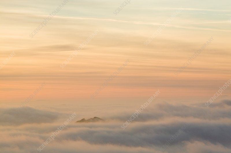 Harter Fell above the clouds