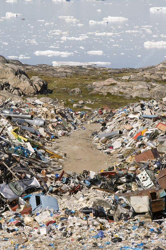Rubbish dumped on the tundra