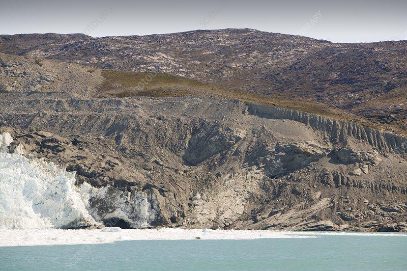 Moraine left by retreating glacier