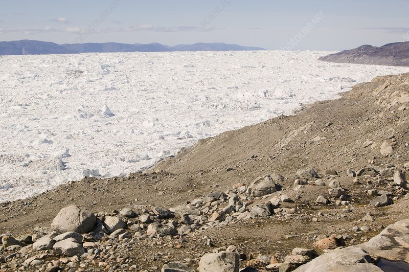 Icebergs from the Jakobshavn glacier