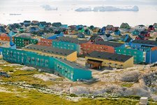 Colourful houses in Ilulissat, Greenland
