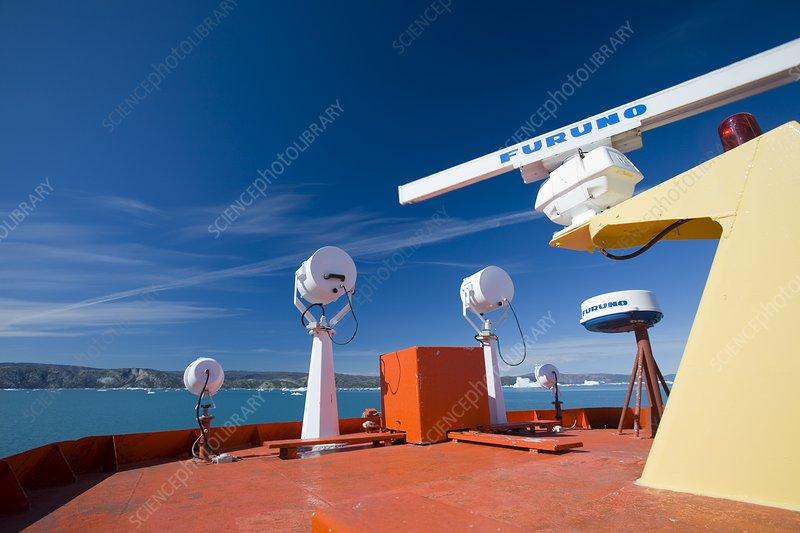 Safety equipment and radar