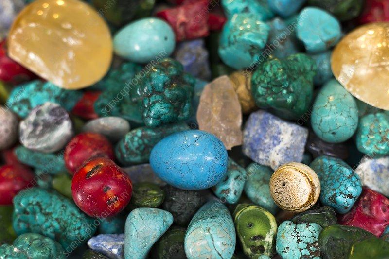 Polished semi precious stones