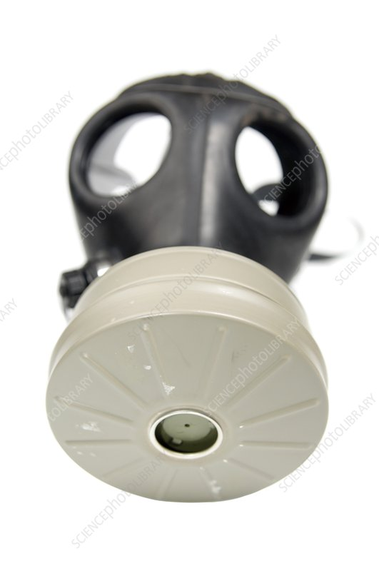 Gas Mask on whit