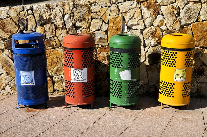 Waste separation and Recycling bins