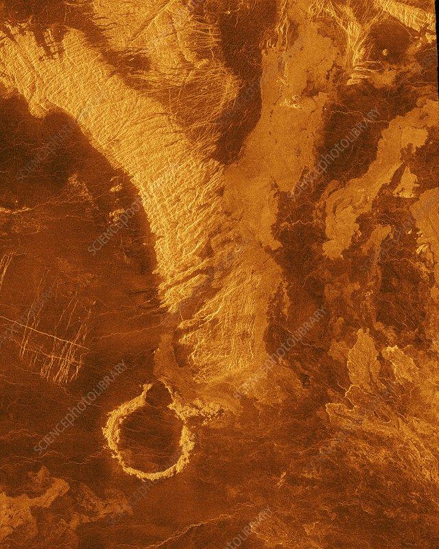 Surface of Venus, radar image