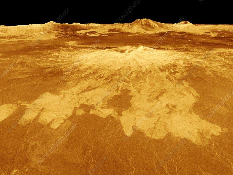 Surface of Venus, composite radar image